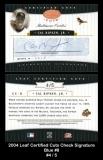 2004 Leaf Certified Cuts Check Signature Blue #8