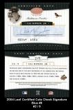 2004 Leaf Certified Cuts Check Signature Blue #9
