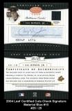 2004 Leaf Certified Cuts Check Signature Material Blue #10