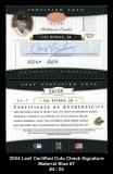 2004 Leaf Certified Cuts Check Signature Material Blue #7