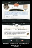 2004 Leaf Certified Cuts Check Signature Material Blue #9