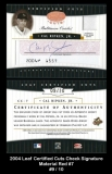 2004 Leaf Certified Cuts Check Signature Material Red #7