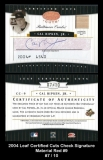 2004 Leaf Certified Cuts Check Signature Material Red #9