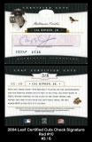 2004 Leaf Certified Cuts Check Signature Red #10