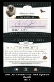 2004 Leaf Certified Cuts Check Signature Red #8