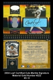 2004 Leaf Certified Cuts Marble Signature Material Gold Number #222