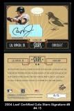 2004 Leaf Certified Cuts Stars Signature #8