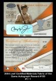 2004 Leaf Certified Materials Fabric of the Game Autograph Reward #155