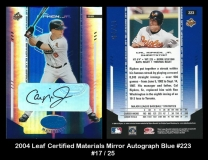 2004 Leaf Certified Materials Mirror Autograph Blue #223