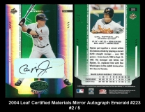 2004 Leaf Certified Materials Mirror Autograph Emerald #223