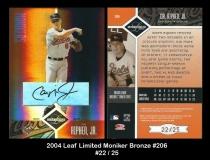 2004 Leaf Limited Moniker Bronze #206