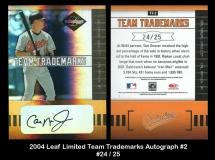 2004 Leaf Limited Team Trademarks Autograph #2