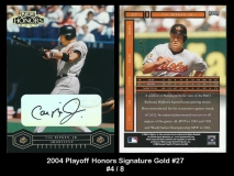 2004 Playoff Honors Signature Gold #27