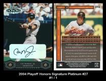 2004 Playoff Honors Signature Platinum #27