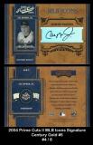 2004 Prime Cuts II MLB Icons Signature Century Gold #5