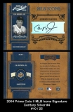 2004 Prime Cuts II MLB Icons Signature Century Silver #4
