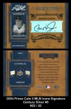 2004 Prime Cuts II MLB Icons Signature Century Silver #5