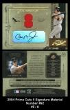 2004 Prime Cuts II Signature Material Number #92
