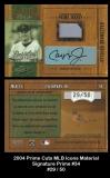 2004 Prime Cuts MLB Icons Material Signature Prime #3