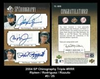 2004 SP Authentic Chirography Triple #RRR