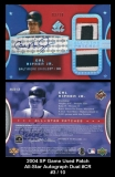 2004 SP Game Used Patch All-Star Autograph Dual #CR