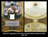 2004 SP Legendary Cuts Game Graphs Memorabilia 25 #CR