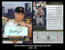 2004 Studio Private Signings Gold #27