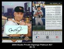2004 Studio Private Signings Platinum #27