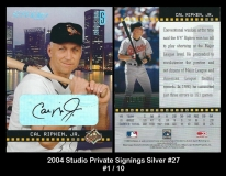2004 Studio Private Signings Silver #27