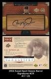 2004 Sweet Spot Classic Barrel Signatures #CR