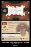 2004 Sweet Spot Classic Signatures Black Holo-Foil #8