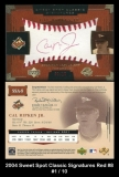 2004 Sweet Spot Classic Signatures Red #8