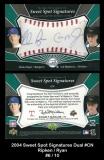 2004 Sweet Spot Signatures Dual #CN