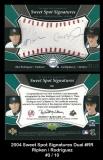 2004 Sweet Spot Signatures Dual #RR