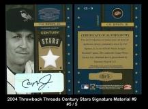 2004 Throwback Threads Century Stars Signature Material #9