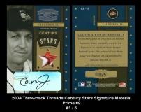 2004 Throwback Threads Century Stars Signature Material Prime #9