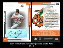 2004 Throwback Threads Signature Marks #202