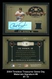 2004 Timeless Treasures Game Day Materials Signature #6