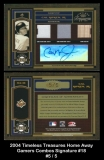 2004 Timeless Treasures Home Away Gamers Combos Signature #18