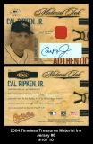 2004 Timeless Treasures Material Ink Jersey #6