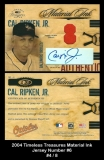 2004 Timeless Treasures Material Ink Jersey Number #6