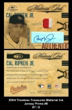 2004 Timeless Treasures Material Ink Jersey Prime #6