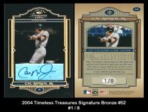 2004 Timeless Treasures Signature Bronze #52