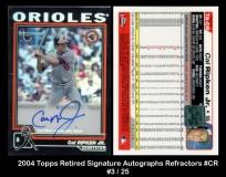 2004 Topps Retired Signature Autographs Refractors #CR