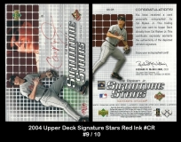 2004 Upper Deck Signature Stars Red Ink #CR