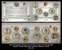 2004 UD Legends Timeless Teams Team Terrific GU Hat Logo #BO