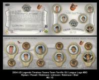 2004 UD Legends Timeless Teams Team Terrific GU League Logo #BO