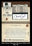 2004 Classic Clippings Signature Edition #CR