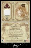 2004 Diamond Kings Heritage Collection Jerseys #2