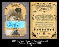 2004 Diamond Kings DK Combos Framed Platinum Gray Sepia #160
